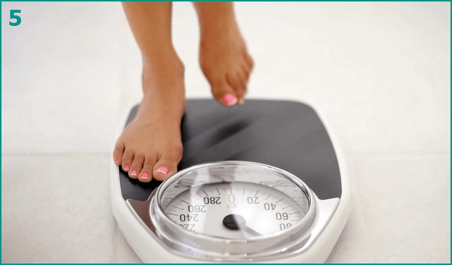 Взвесьтесь до и после диеты