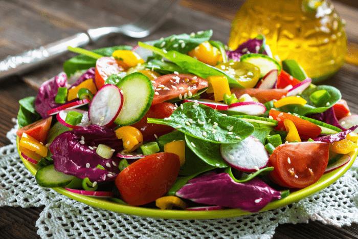 овощной цветной салат