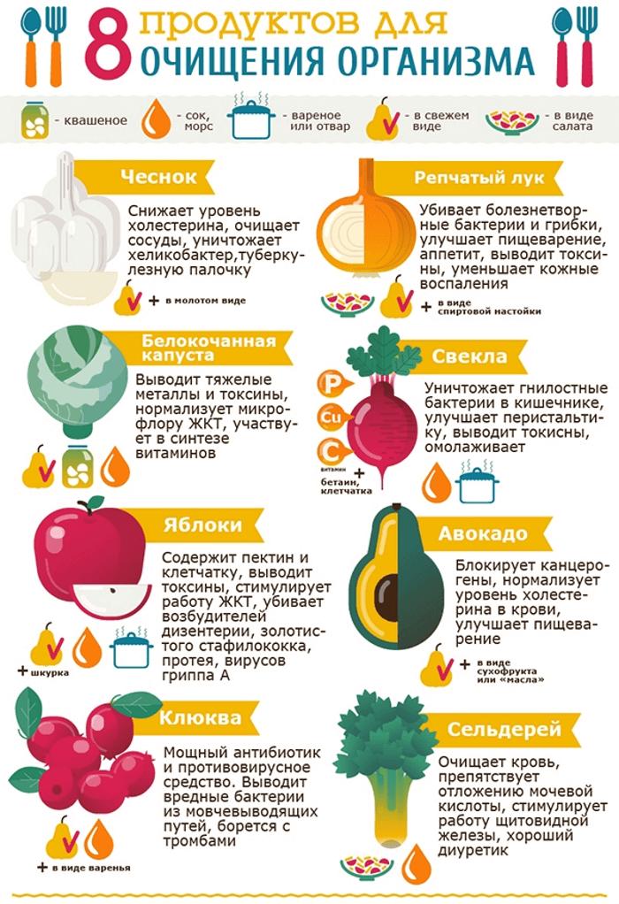 продукты против шлаков
