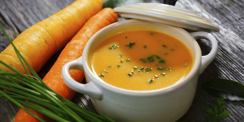 морковный суп с кориандром