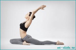 Во время диеты лучше заниматься йогой, а не более тяжелыми упражнениями