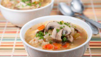Суп из грибов для похудения