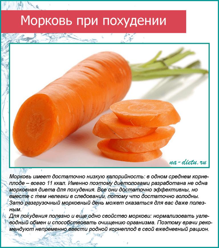 Сырая морковь польза и вред для похудения