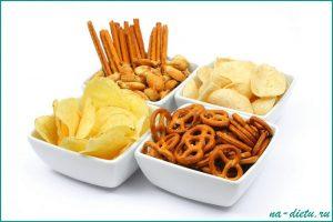 Никаких закусок во время диеты!